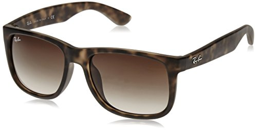 Ray-Ban Sunglasses - RB4165F Justin / Frame: Light Havana Rubber Lens: Brown Gradient - Justin Ray Ban Tortoise