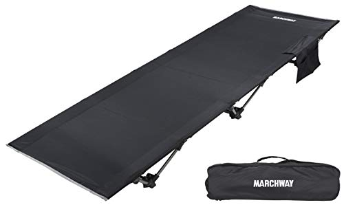 MARCHWAY Lightweight Folding Tent Camping Cot Bed, Portable Compact for Outdoor Travel, Base Camp, Hiking, Mountaineering, Backpacking