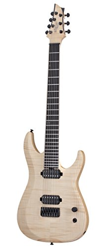 Schecter 7 String Solid-Body Electric Guitar, Natural Pearl (300)