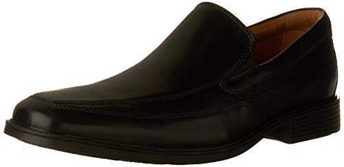CLARKS Men's Tilden Free, Black Leather, 10 M US ()