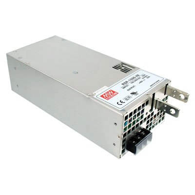 "Mean Well RSP-1500-27 Enclosed Switching AC-to-DC Power Supply, Single Output, 27V, 0-56A, 1512W, 3.3"" H x 5.0"" W x 10.9"" L"