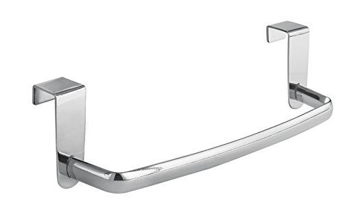 "InterDesign Axis Over-the-Cabinet Kitchen Dish Towel Bar Holder - 9"", Chrome"
