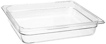 "Cambro 22CW 4.1 qt Capacity, 12-3/4"" Length x 10-7/16"" Width x 2-1/2"" Depth, Camwear Clear Polycarbonate Half Size Food Pan"