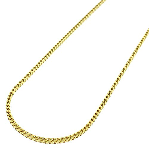 Sterling Silver Italian 1.5mm Solid Franco Square Box Link 925 Yellow Gold Plated Necklace Chain 16
