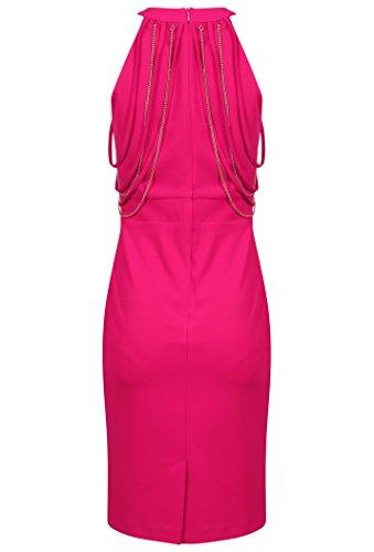 Rinascimento - Robe - Crayon - Sans Manche - Femme rose fraise