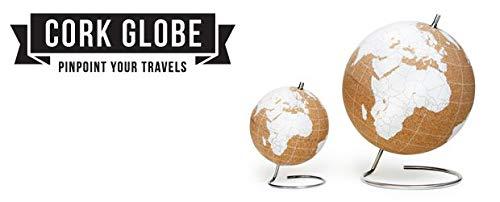 SUCK UK White Cork Globe Large ホワイトコルクグローブ ピンマーク付き 地球儀 軽量 インテリア (Large) B07SYWXXL9  Large