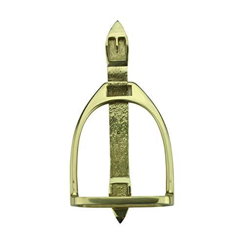 Solid Brass Large Door Knocker Stirrup 9.5