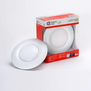 T67/Commercial Electric 6 In. Recessed Soft White LED Disk Light : commercial electric 6 recessed lighting - azcodes.com