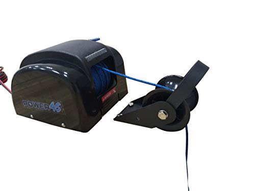POWER4S 12V Electric AutoDepoly Anchor Winch for 30 lb. Anchor Freshwater Marine Pontoon Boat