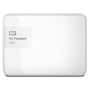 WD 1TB White My Passport Ultra Portable External Hard Drive - USB 3.0 - WDBGPU0010BWT-NESN