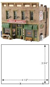 Building Kit Woodland Scenics Model - Woodland Scenics HO Scale Pre-Fab Building/Structure Kit Fresh Market