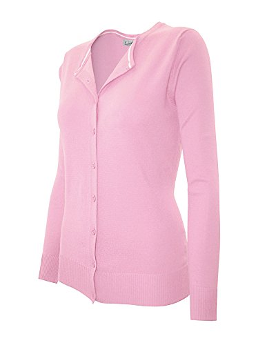 cielo-womens-round-neck-summer-spring-button-cardigan-large-sw280-baby-pink
