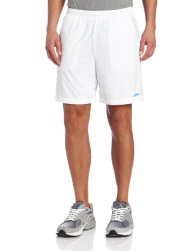 (ASICS Men's GP 7-Inch Short, Small, White)