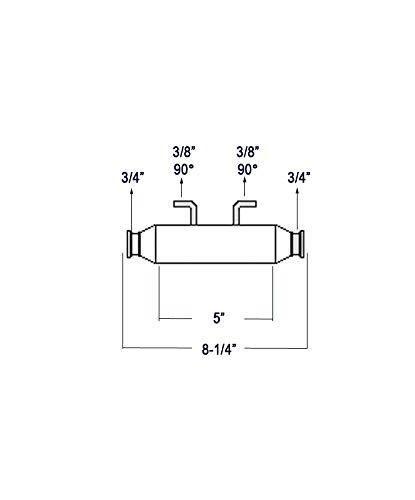 "Seakamp 2-5-13-2 Oil Cooler 5/"" x 3//4/"" x 3//8/"" NPT"