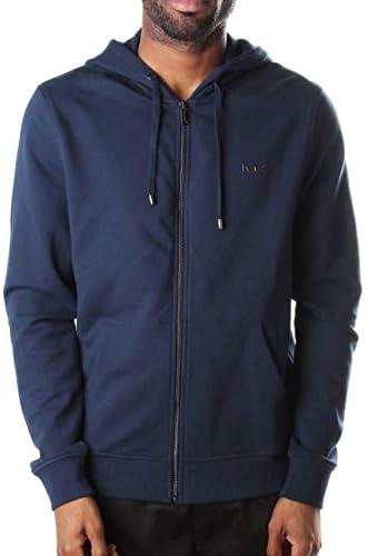 Michael Kors Liquid Logo - Sudadera con capucha para hombre, color azul
