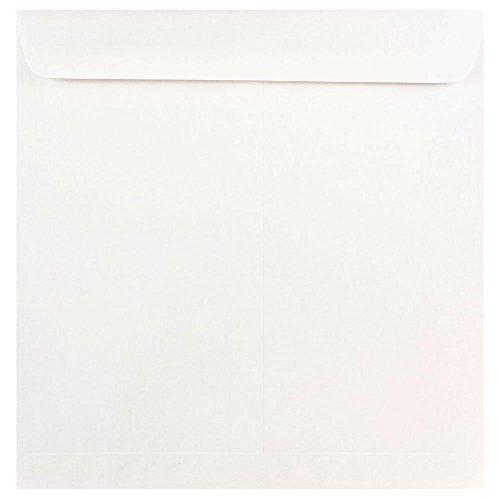 "UPC 608729144410, JAM Paper 11.5"" x 11.5"" Square Invitation Envelopes - White - 1000/carton"