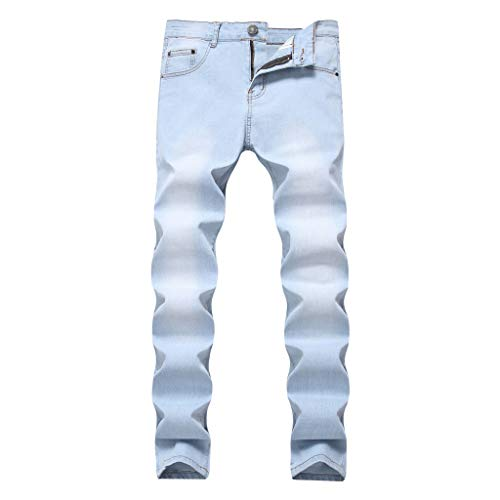 ♛TIANMI Mens Summer Fashion Slim Fit Personality Stretchy Casual Solid Jeans Denim Pants,Mens for Pants(White,38) ()