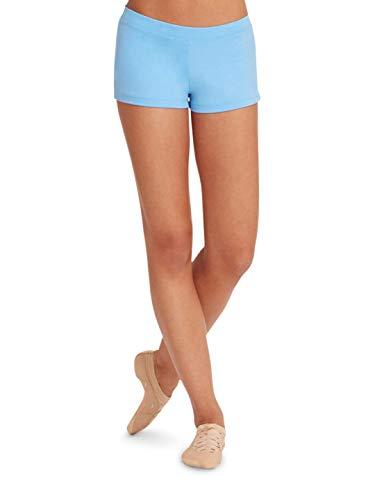 Capezio Women's Low Rise Boy Cut Short,Columbia Blue,X-Small