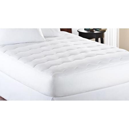 Full-Size Mattress Pad Extra Thick White Padded Bed Machine