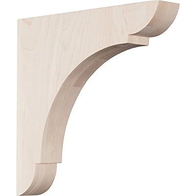 Ekena Millwork BKTW01X10X10OLRW 1 3/4W x 10D x 10H Large Olympic Wood Bracket, Rubber Wood by Ekena Millwork
