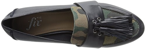 The Fix Women's Fabiana Tassel Penny Loafer, Midnight Navy/Camo, 8 M US by The Fix (Image #8)