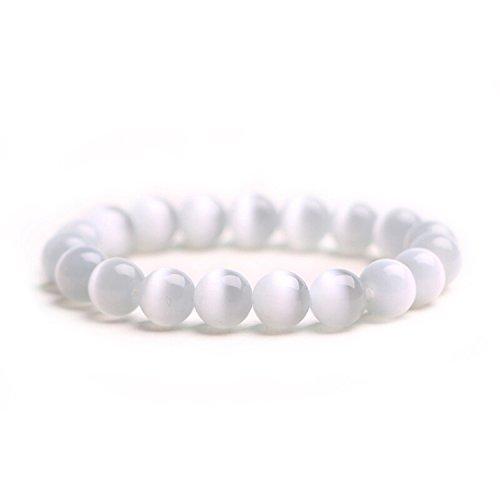 J. Fée BLACK FRIDAY SALE- Healing Gemstone 8mm Round Natural Semi Precious Stones Beaded Stretch Bracelet Jewelry 7
