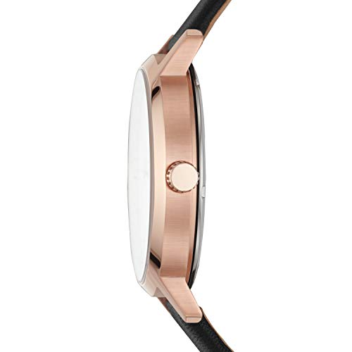 DKNY Men's The The Modernist Stainless Steel Quartz Watch with Leather Strap