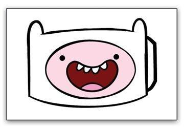 Adventure Time with Finn and Jake Heavy Duty Metal Belt Buckle 'FINNS FACE'