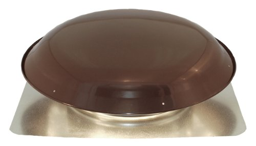 Ventamatic VX25BRN Static Galvanized Steel Dome and Flange Roof Vent, Brown