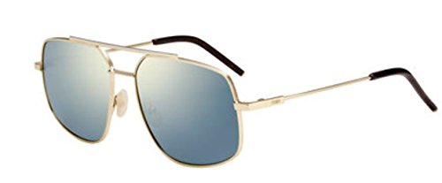 New Fendi FF M 0007/S 3YG/JO Light Gold/Grey Bronze Sunglasses