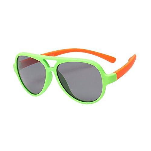 88580b67d5 Durable Modelando BOZEVON Gafas de Sol para Unisexo Niños Niñas Aviador  Flexible Rubber Deportivas Polarizadas Clásico