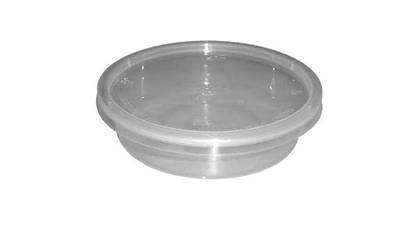 250 x redondo 8 oz de plástico transparente de microondas/horno ...