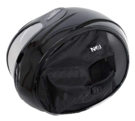 NOJ Quiet Rider Helmet Skirt Deluxe - Black