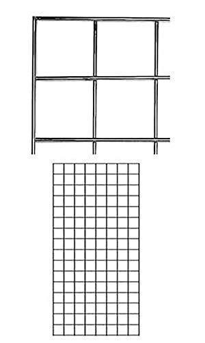 2' X 4' Wire Grid Panel - Chrome by SSW Basics LLC