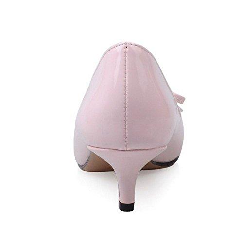 donna con Pink Sandali Zeppa LongFengMa qB5FtF
