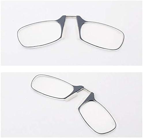 ミニ老眼鏡、キーホルダーリーダーメガネ、折りたたみ式コンピューター眼鏡、男女兼用、持ち運びが簡単