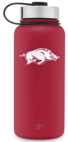 (Simple Modern 32oz Summit Water Bottle - Arkansas Razorbacks Vacuum Insulated 18/8 Stainless Steel Travel Mug -)