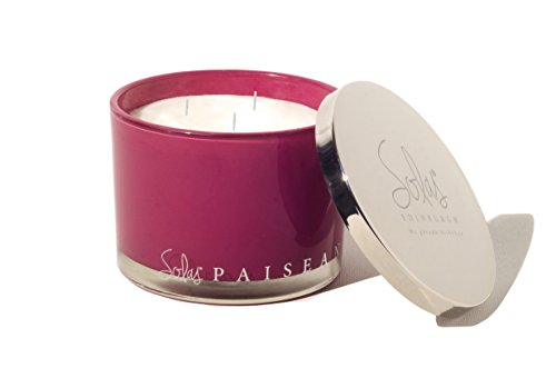 Solas Candles | Scented Candle Made from Natural Soy Wax | Enjoy the Essence of Scotland and Scottish Culture with the Paisean Candle, Scented with the Aroma of Blackberry, Redcurrant, and Grape Grape Pillar Candle Holder