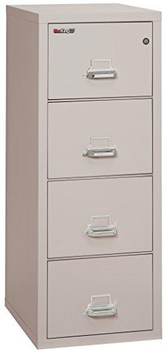 FireKing Fireproof Vertical File Cabinet (4 Legal Sized Drawers, Impact Resistant, Waterproof), 52.25