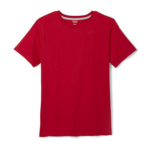 French Toast Boys' Short Sleeve Crewneck Tee,Red,L (10/12) ()
