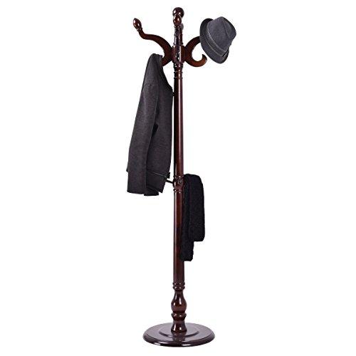 New Standing Wood Coat Hat Rack Tree Hanger Hall Entyway by MR+MR