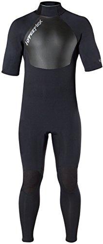 Hyperflex Wetsuits Men's Voodoo 2.5mm Short Sleeve Fullsuit, Black, 3X-Larg - Surfing, Windsurfing & Wakeboarding