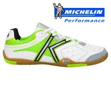 Kelme Star 360 Hommes Michelin En Cuir Maille Inséré Chaussures De Football Blanc