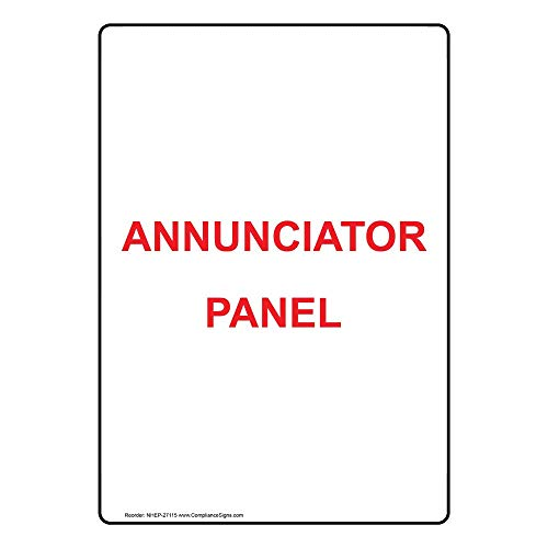 Annunciator Panel Label Decal, 5x3.5 in. 4-Pack Vinyl for Fire Safety/Equipment by ComplianceSigns - Fire Alarm Annunciator Panel