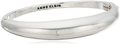 Anne Klein Women's Silver-Tone Dome Bangle Bracelet, 0