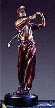 Bronze Finish Golfer Statue Award or Trophy