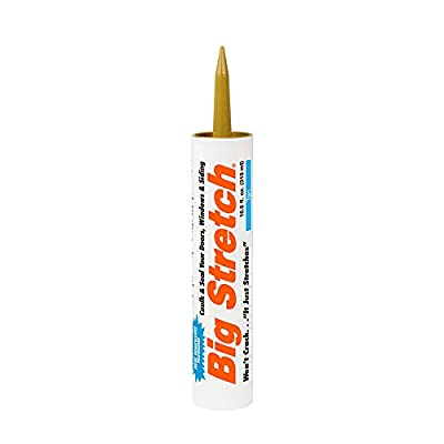Sashco Big Stretch Acrylic Latex High Performance Caulking Sealant, 10.5 Ounce Cartridge, Tan (Pack of 12)