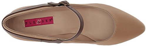 t Pleaser Fab425 Pump Faux Dress Pink Women's Label Tan Leather Tan Faux Brown Leather Bnpu brown qtHIwH