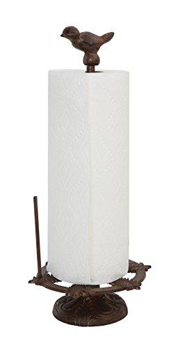 Creative Co-Op DA7226 Cast Iron Bird Paper Towel Holder, 7