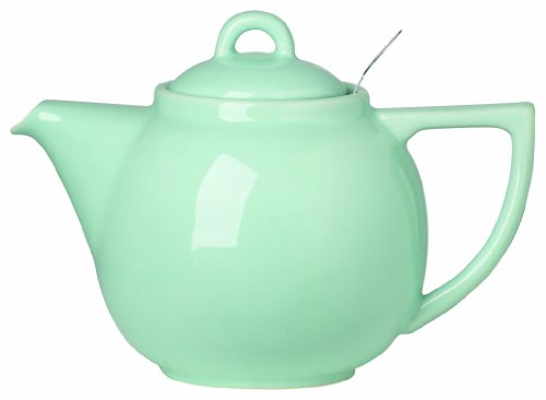 London Pottery Geo Teapot with Stainless Steel Infuser, 2 Cup Capacity, Aqua Blue